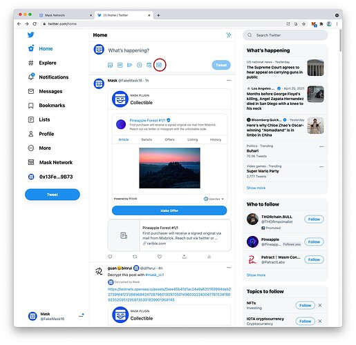 click mask icon