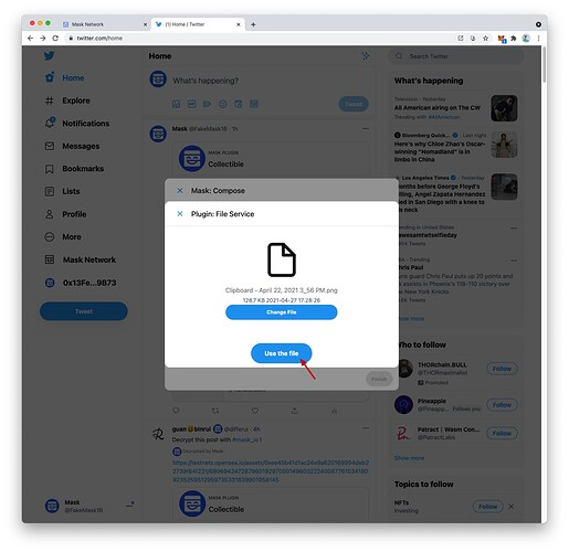 Click Use the file