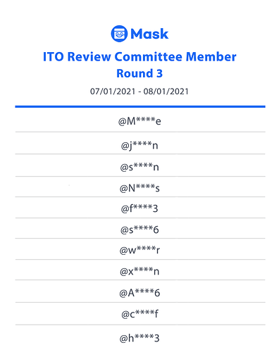 Committee Round 3