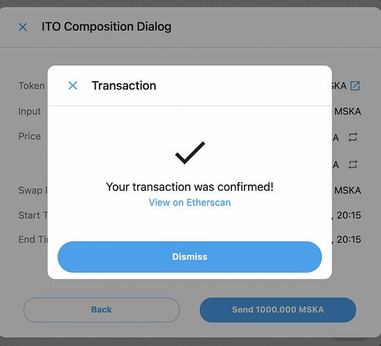 Transaction confirmed